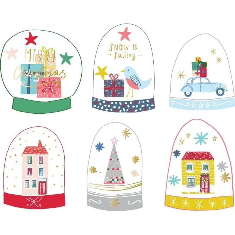 Pink Fresh Snow Globe Elements Acetate Die-Cuts