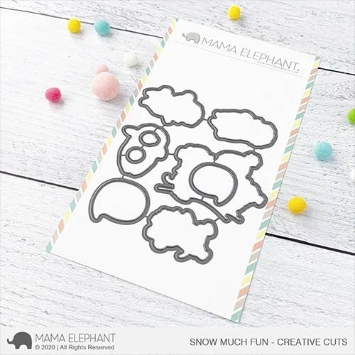Mama Elephant Snow Much Fun - Creative Cuts