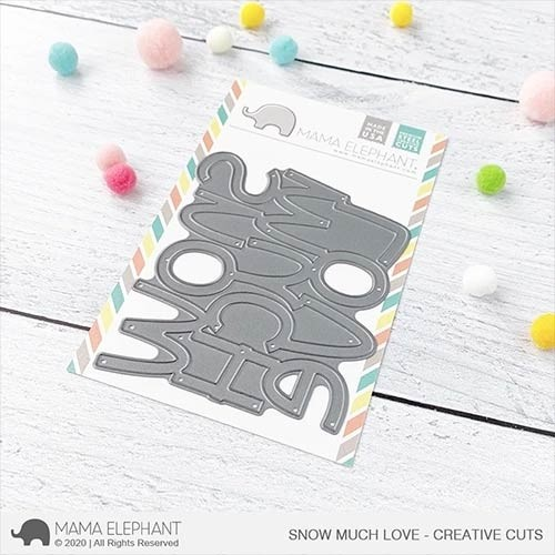 Mama Elephant Big Snow Much Love - Creative Cuts