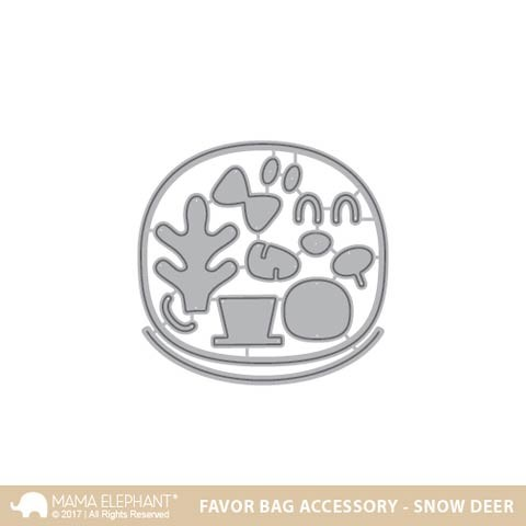 Mama Elephant Favor Bag Accessory - Snow Deer