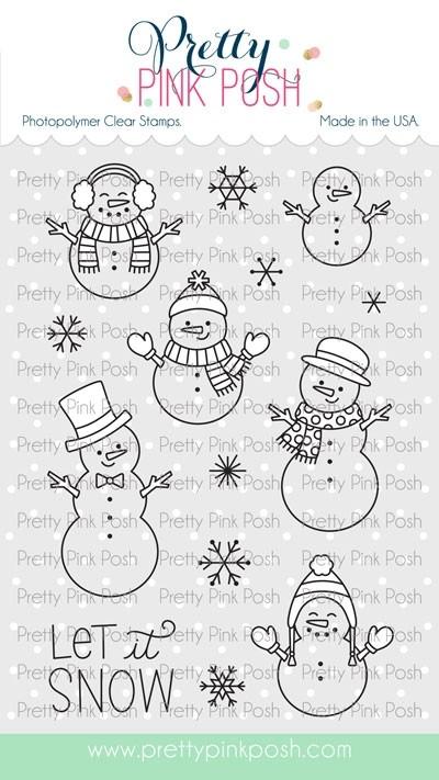 Pretty Pink Posh Snowmen Friends stamp set