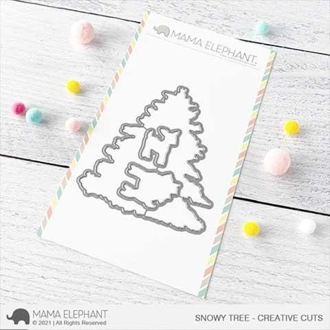 Mama Elephant Snowy Tree Creative Cuts