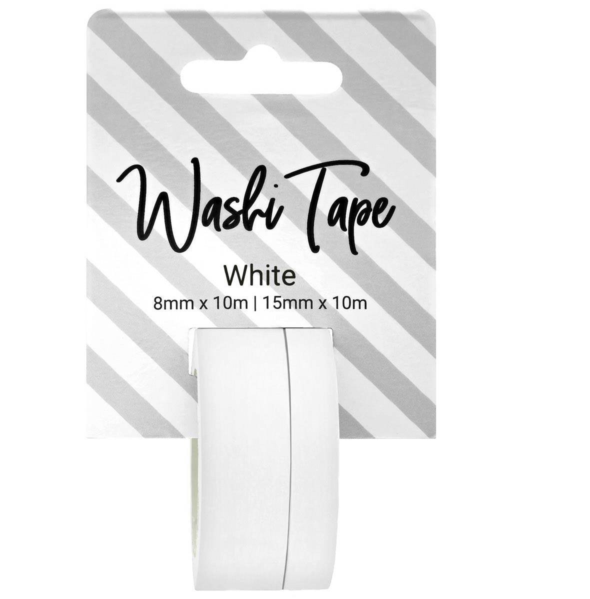 Solid White Washi Tape