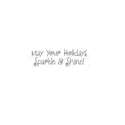 Sparkle and Shine Rubber stamp IOB5486