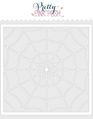 Pretty Pink Posh Spider Web Stencil