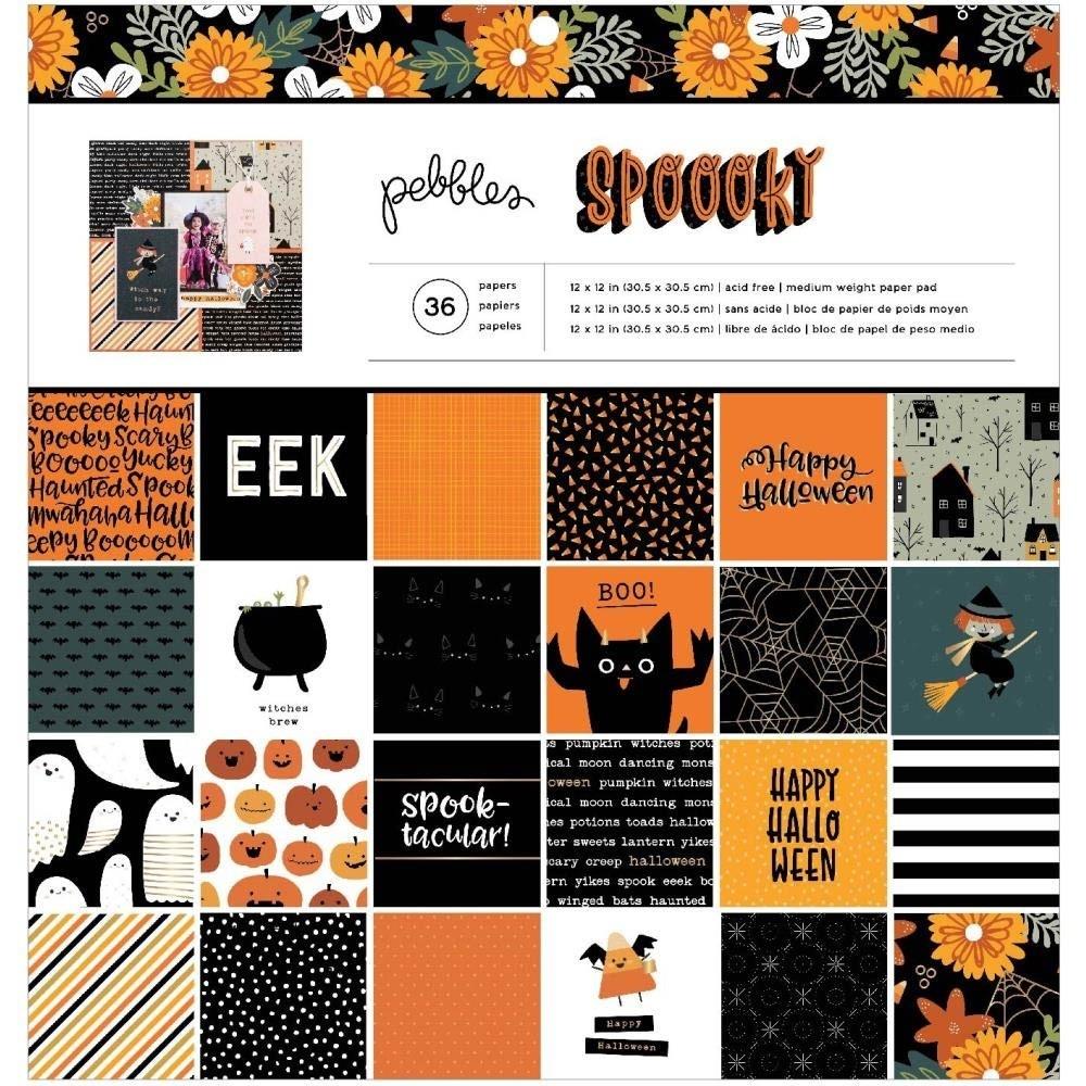 SALE - Pebbles Spoooky 12x12 paper pad