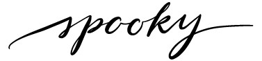 5724y - spooky calligraphy
