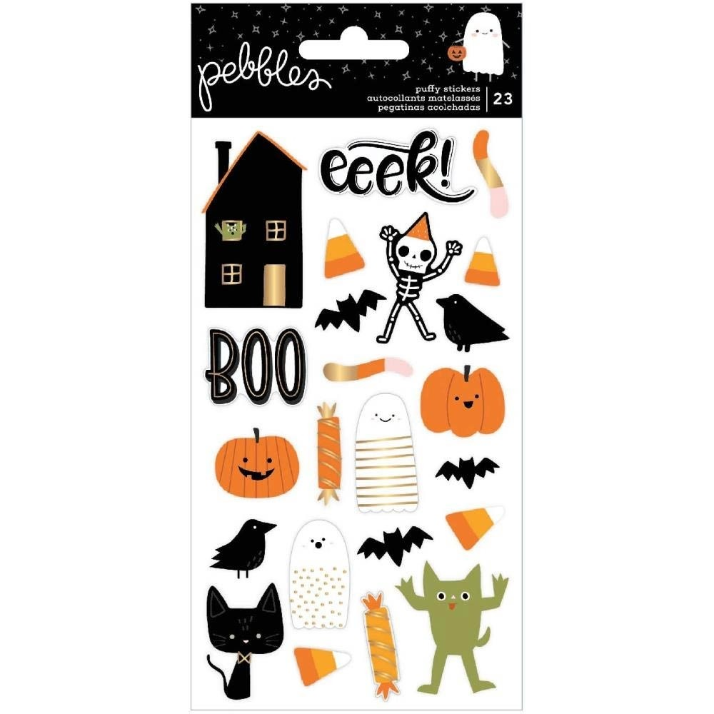 Pebbles Spoooky Puffy Stickers 23/Pkg