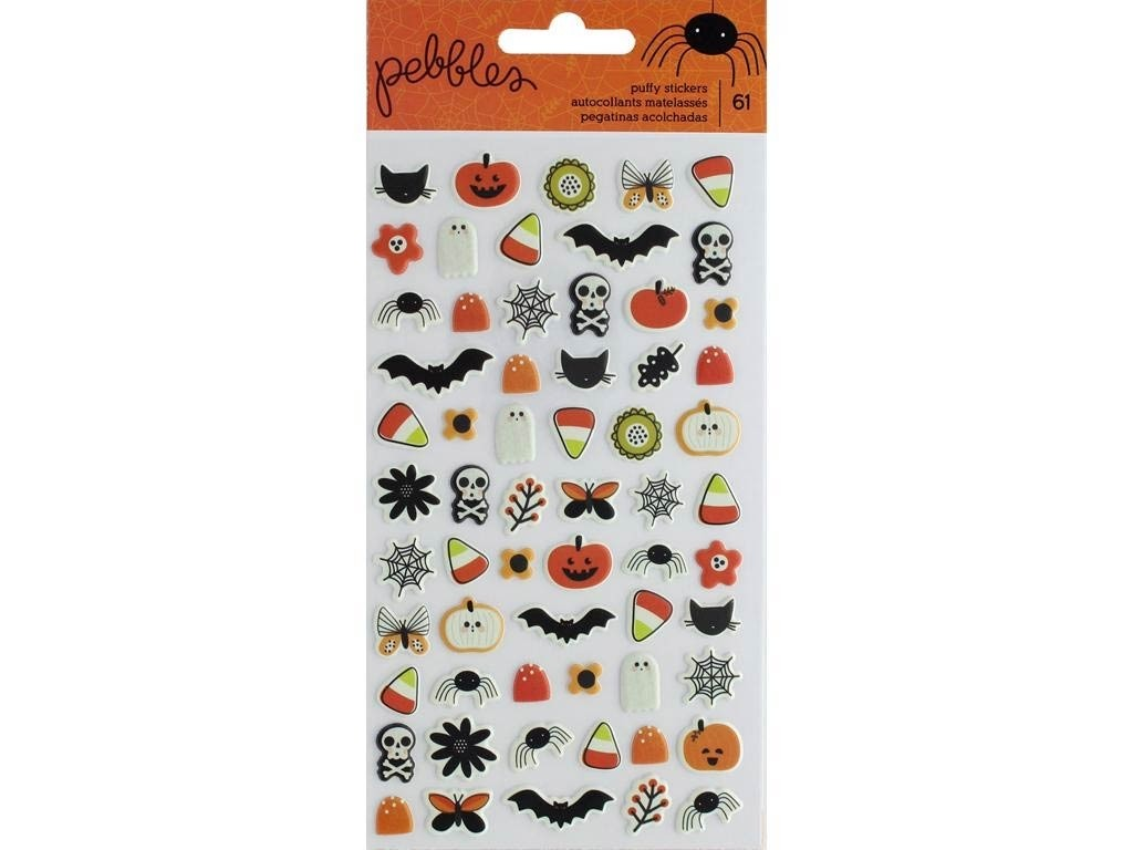 Pebbles Collection spooky boo puffy sticker