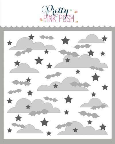 Pretty Pink Posh Spooky Sky Stencils (3 layer)