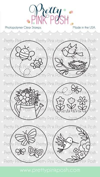 Pretty Pink Posh Spring Circles Stamp Set