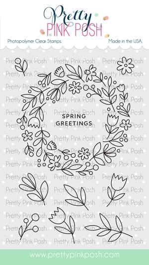 Pretty Pink Posh Spring Wreath Stamp Set