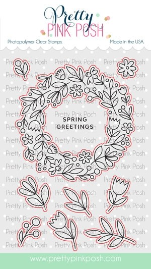 Pretty Pink Posh Spring Wreath Coordinating Dies