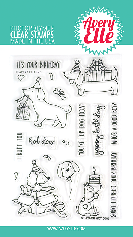 SALE - Avery Elle Hot Dog Clear Stamps