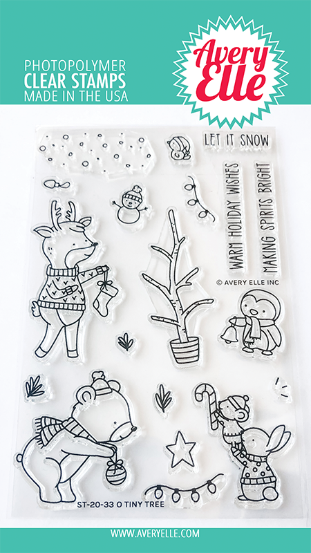 Avery Elle Oh Tiny Tree Stamps st2033