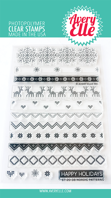 Avery Elle Nordic Patterns Clear Stamps st2038