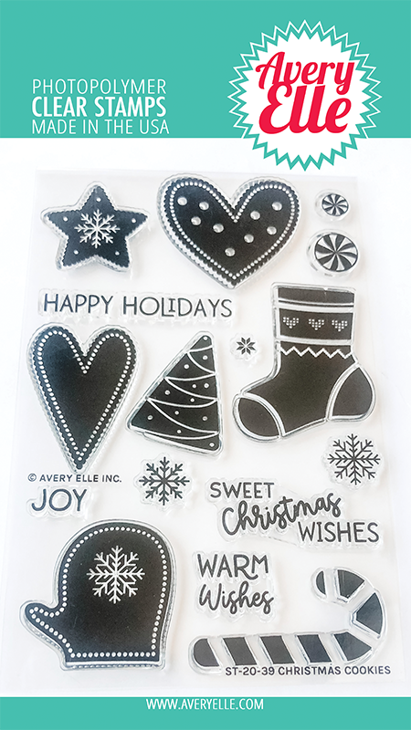 Avery Elle Christmas Cookies Clear Stamps st2039