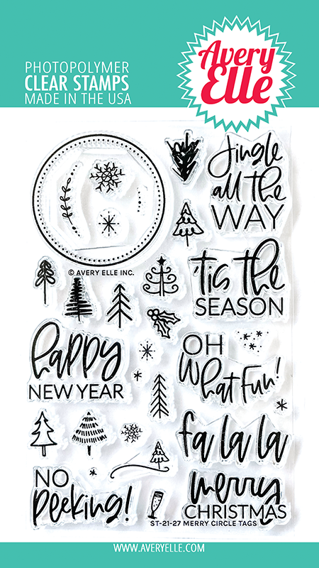 Avery Elle Merry Circle Tags Clear Stamps ST-21-27