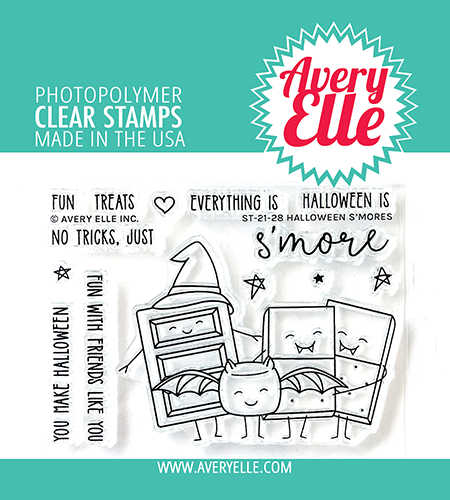 Avery Elle Halloween S'mores Clear Stamps ST-21-28