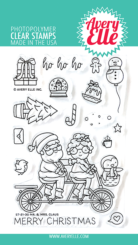 Avery Elle Mr. & Mrs. Claus Clear Stamps ST-21-30