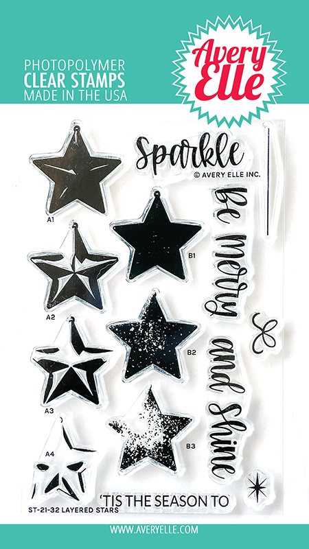 Avery Elle Layered Stars Clear Stamps ST-21-32