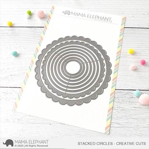 Mama Elephant Stacked Circles - Creative Cuts