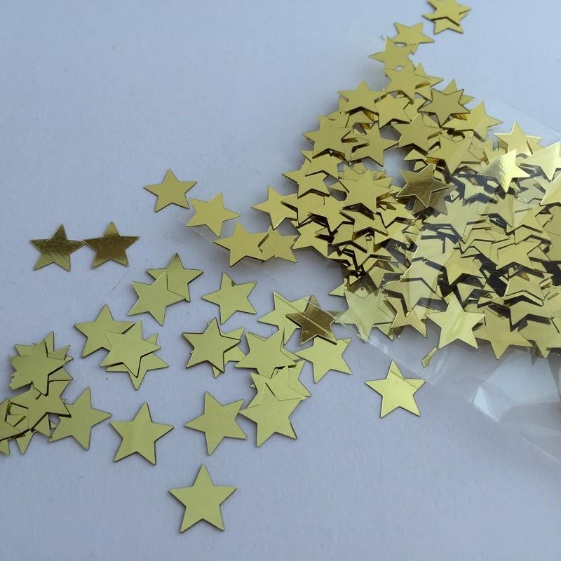 Gold Flat Star Confetti