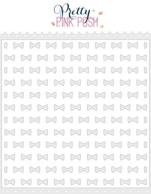 Pretty Pink Posh Bow Ties Stencil