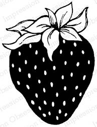 Strawberry Rubber Stamp ioC16468