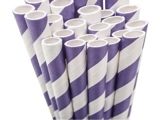 Paper Straws - purple