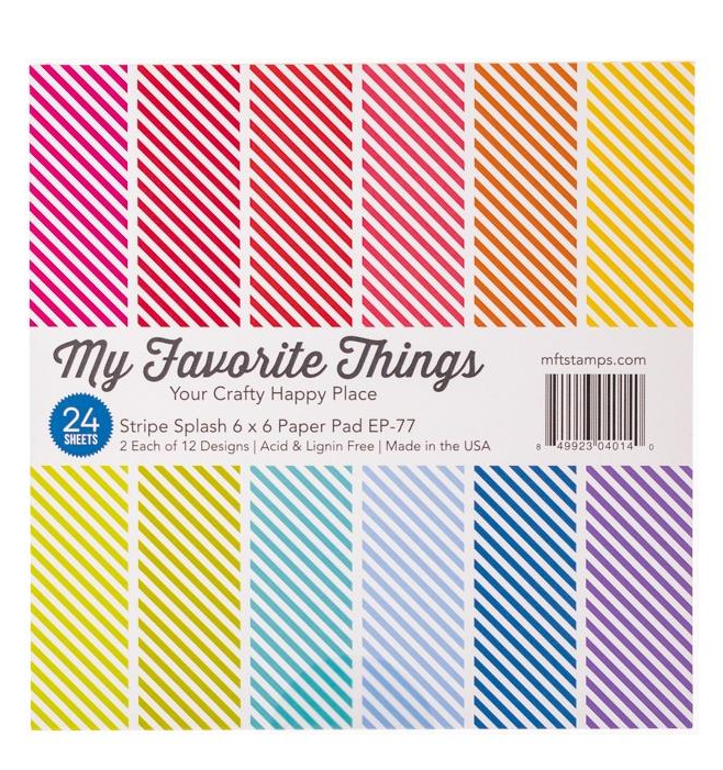 My Favorite Things Stripe Splash 6x6 Paper Pack