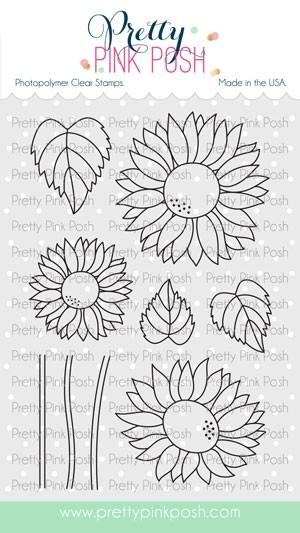 Pretty Pink Posh Sunflowers Stamp Set