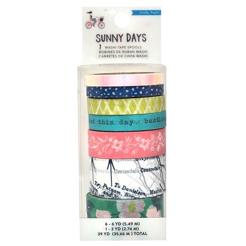 Crate Paper Sunny Days Washi Tape Spools