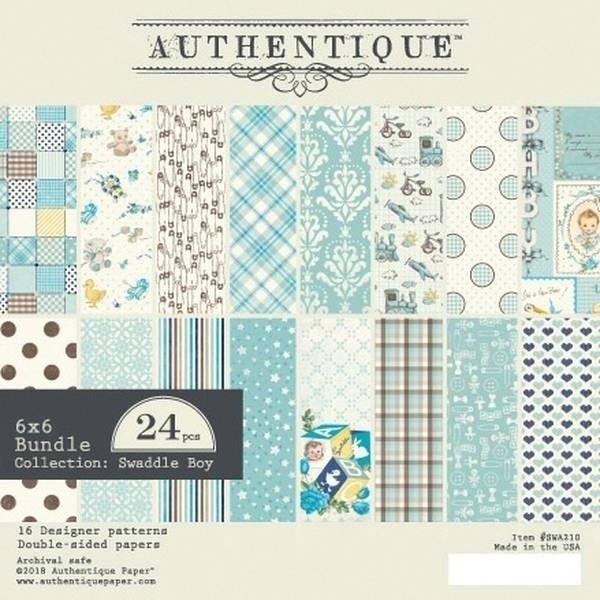 Authentique Swaddle Boy 6x6 Paper Pack