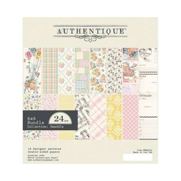 "Authentique Swaddle Girl Cardstock Pad - 6"" x 6"""