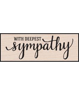 Hero Arts With Deepest Sympathy Rubber Stamp