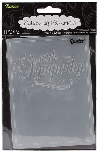 SALE - with sympathy embossing folder
