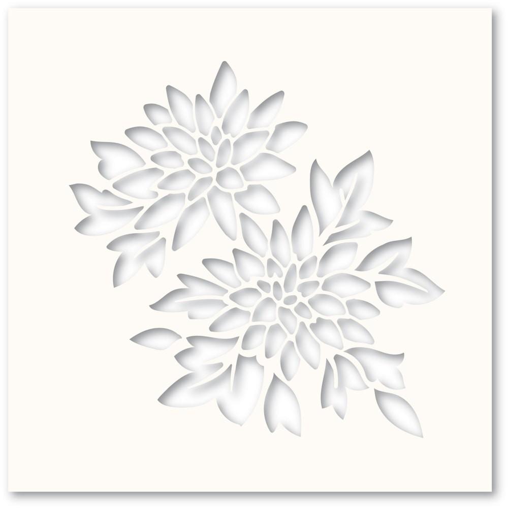 Poppystamps Chrysanthemum Stencil T100