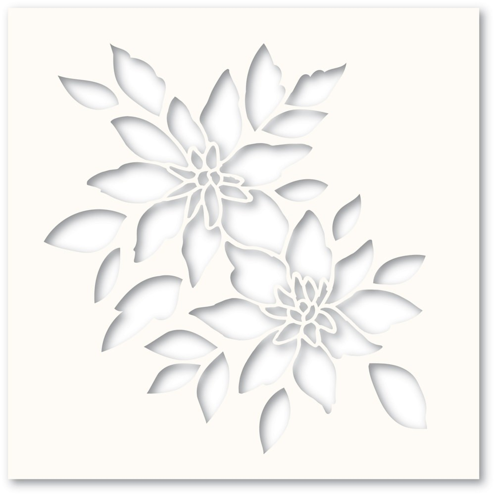 Poppystamps Romantic Blooms Stencil T101