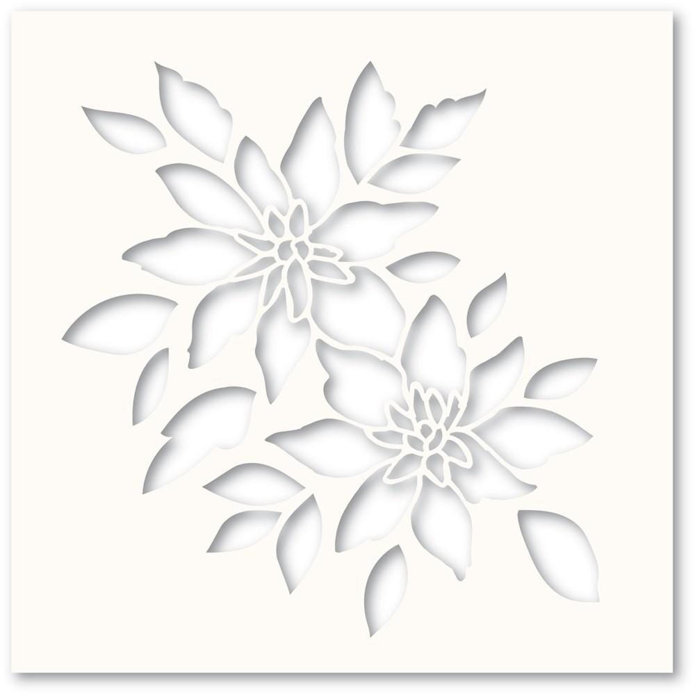 Poppystamps Romantic Blooms Stencil T101