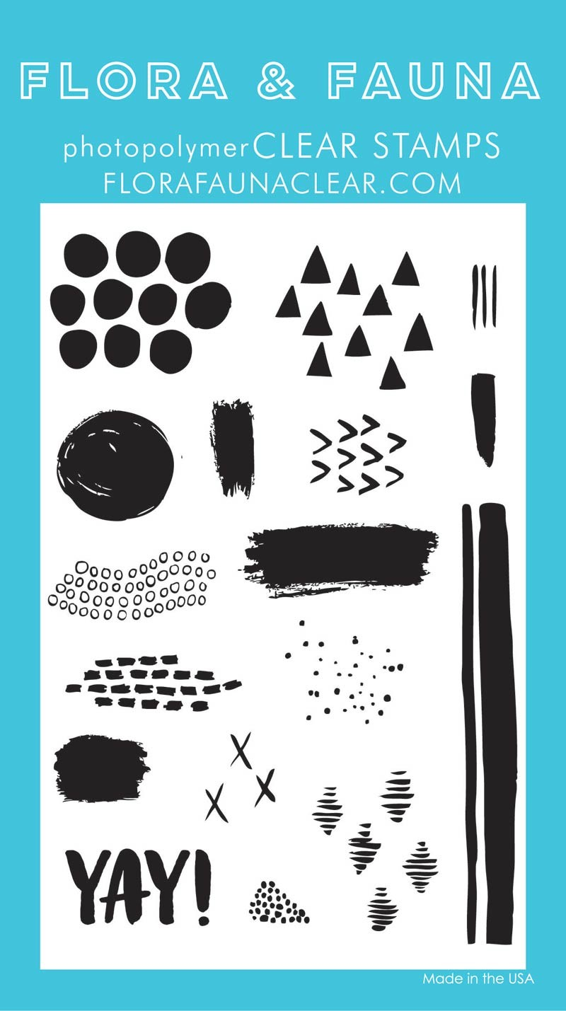Flora & Fauna Texture Two Clear Stamp Set