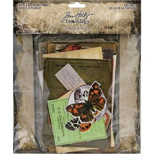 SALE - Tim Holtz idea-Ology Layers & Baseboard Frames 27/Pkg Halloween