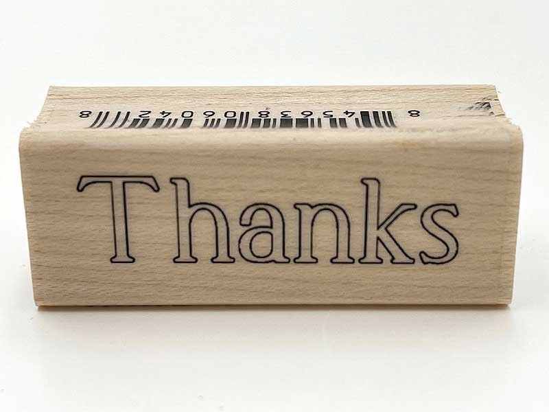 Thanks Rubber Stamp A20932io