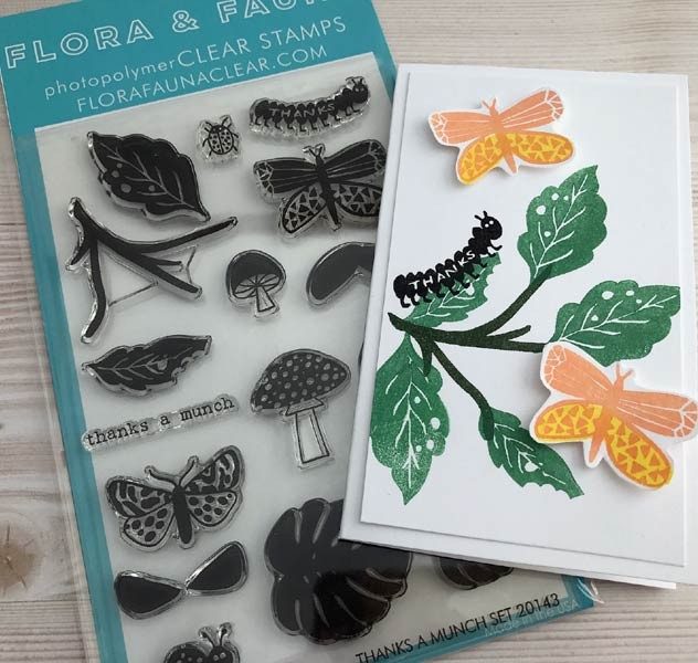 SALE - Flora & Fauna Thanks a Munch Clear Stamp Set