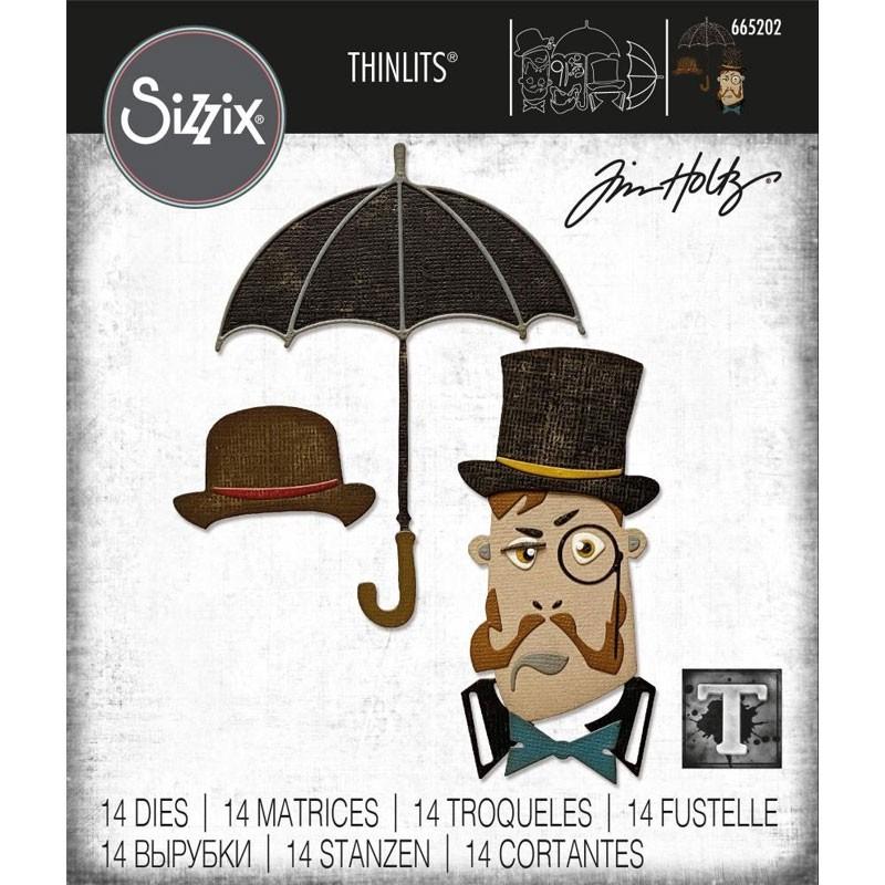 Sizzix Thinlits Dies By Tim Holtz The Gent