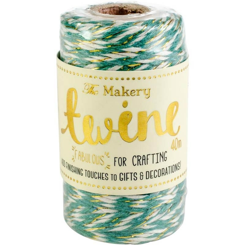 The Makery Bakers Twine - spearmint and gold