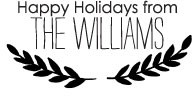 The Williams Custom Stamp