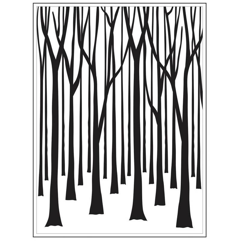 Thin  Tree Trunks Embossing Folder