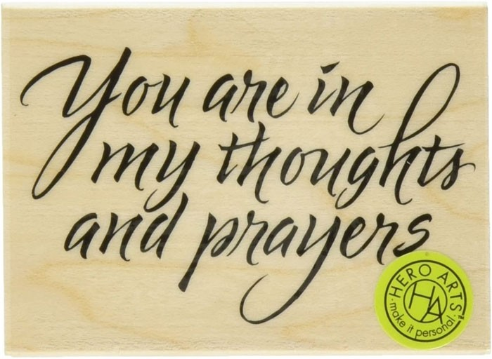 Hero Arts Prayers and Thoughts Rubber Stamp  e3401