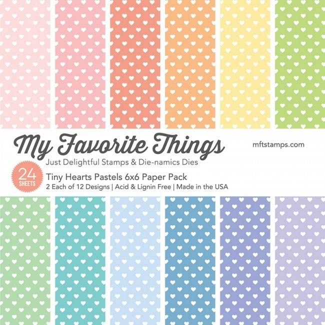 My Favorite Things Tiny Hearts Pastels Paper Pack